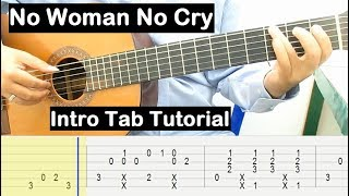No Woman No Cry Guitar Lesson Intro Tab Tutorial Guitar Lessons for Beginners