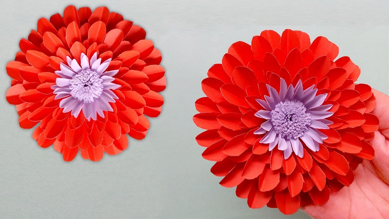 Diy Paper Flowers Making Ideas Very Easy Paper Flowers Decoration