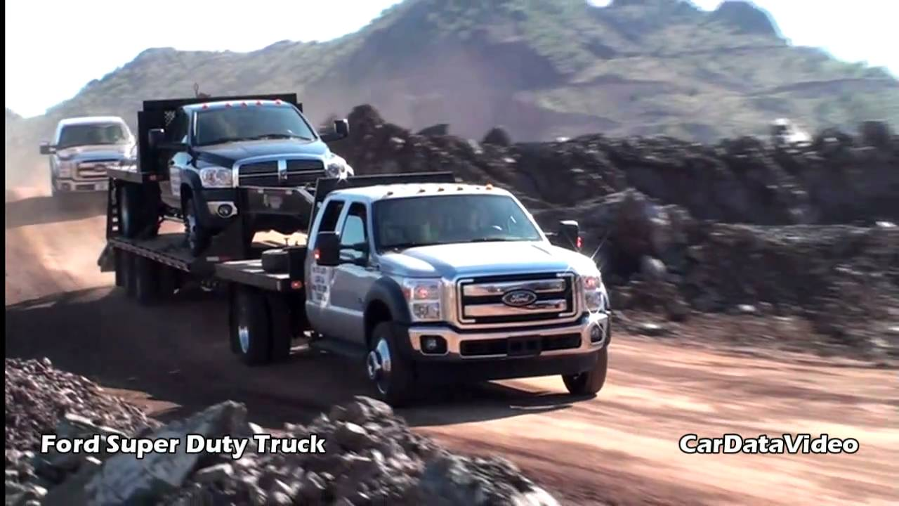 Ford Super Duty Truck - off road in Rock Quarry video ...