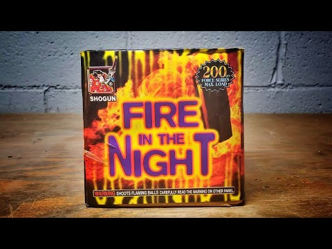FIRE IN THE NIGHT - 200G CAKE - SHOGUN FIREWORKS