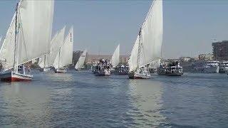 وزيرة الثقافة تشارك فى افتتاح ديفيليه المراكب النيلية بـ أسوان الدولي