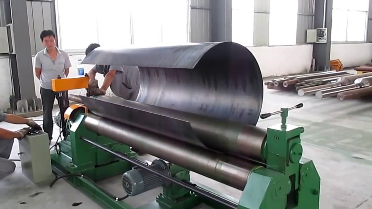 W11 Mechanical 3 Roller Symmetrical Plate Rolling Machine