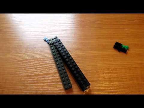 1#Tutorial на нож бабочка из Lego