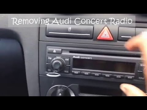 removing audi concert cd stereo radio youtube. Black Bedroom Furniture Sets. Home Design Ideas