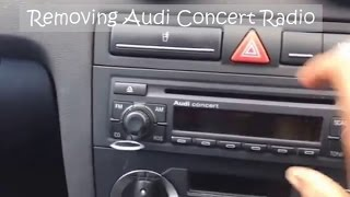 Removing Audi Concert CD Stereo Radio