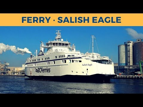 Departure of ferry SALISH EAGLE in Gdańsk (BC Ferries)