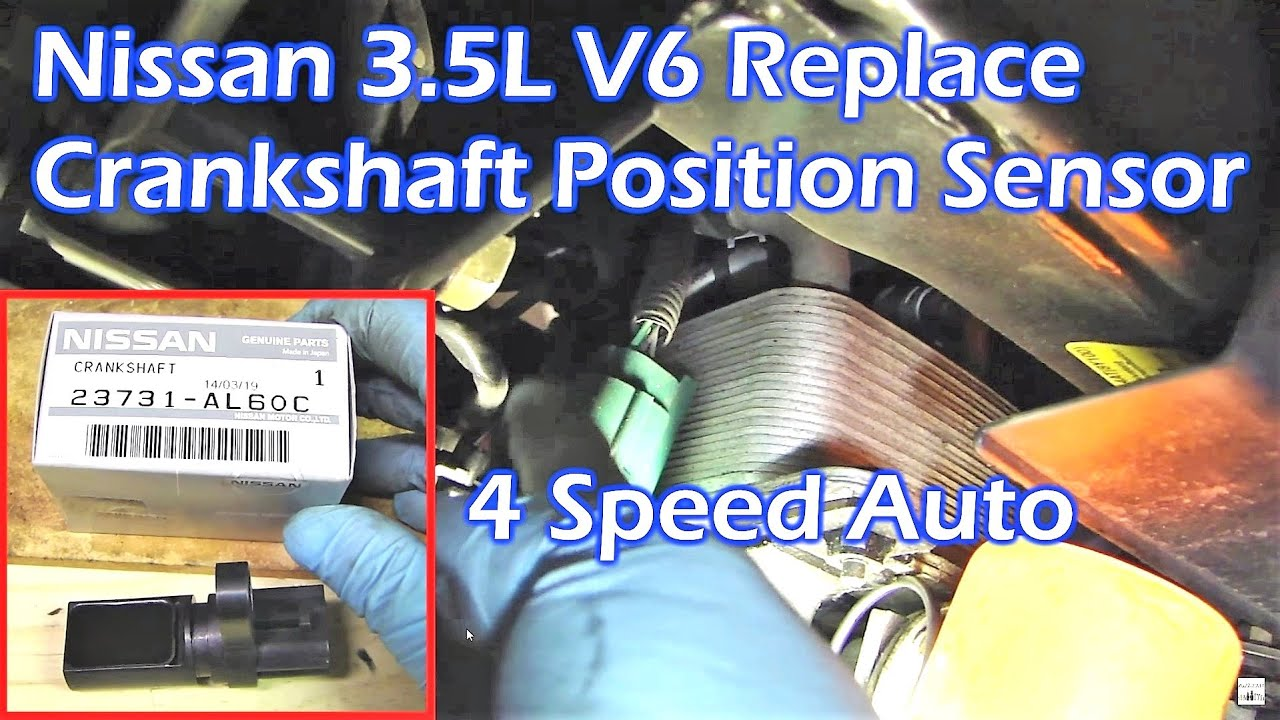 replace nissan 3 5l v6 crankshaft position sensor youtube rh youtube com 04 Nissan Maxima Clutch Replacement 2004 Nissan Quest Timing Cover
