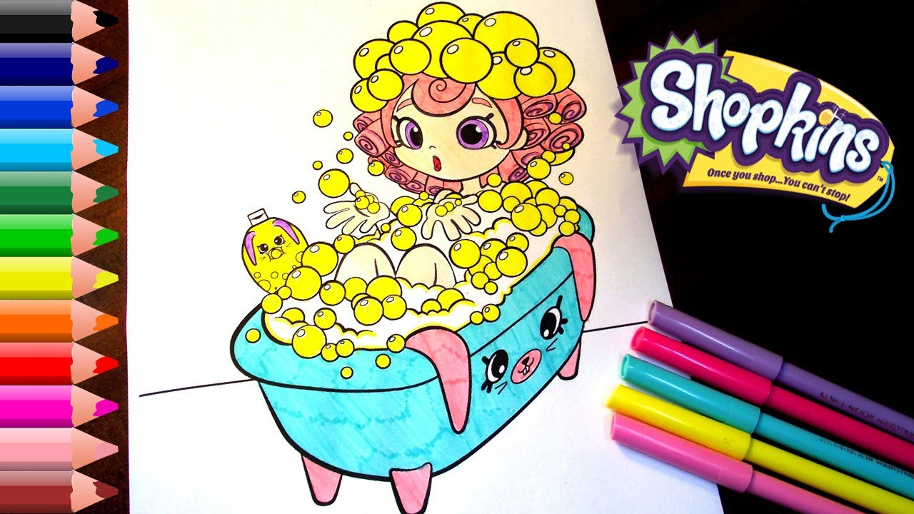 shopkins coloring pages for kids shopkins happy places coloring book youtube. Black Bedroom Furniture Sets. Home Design Ideas