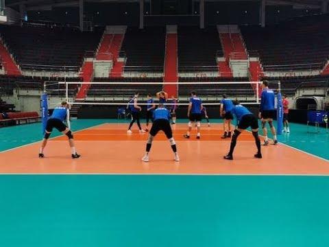 Тренировка сборной России по волейболу   Russian National Volleyball Team Training