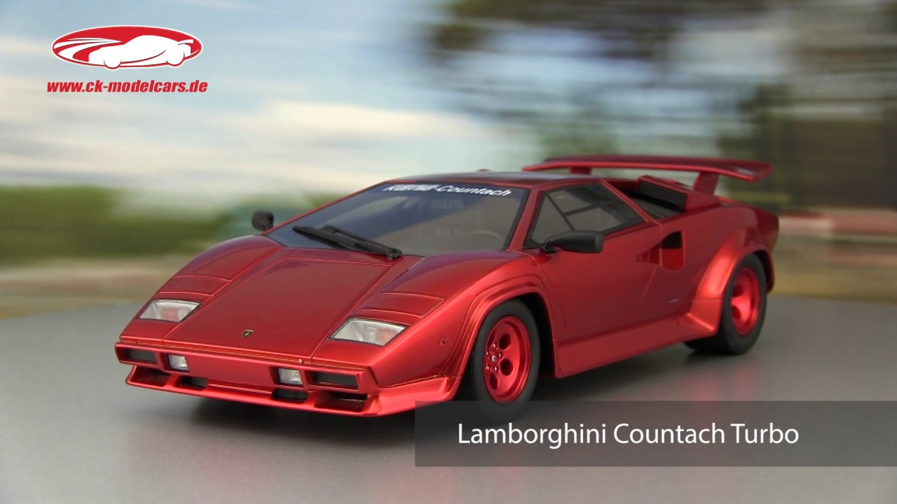 ck,modelcars,video Koenig Specials Lamborghini Countach Turbo Baujahr 1983  rot GT SPIRIT