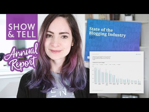 Design show and tell: 2017 State of Blogging Annual Report