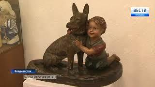 Выставка предметов антиквариата с портретами собак открылась во Владивостоке