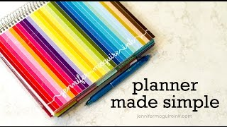 Simple Planner Organization - Erin Condren