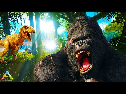 HikePlays: ARK Survival THE BIG HUNT! - Hunting The BIG GORILLA & ALPHA T-REX EP.19 w/ Stream Team