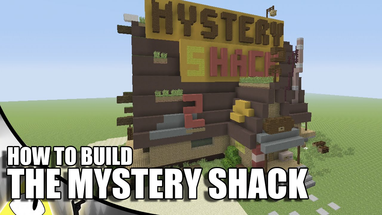 Minecraft how to build the mystery shack youtube for How to build a small shack