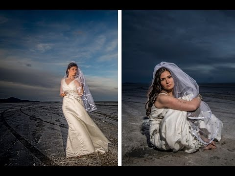 How To Trash the Dress & Shoot Bridal Portraits at the Bonneville Salt Flats with Jason Lanier