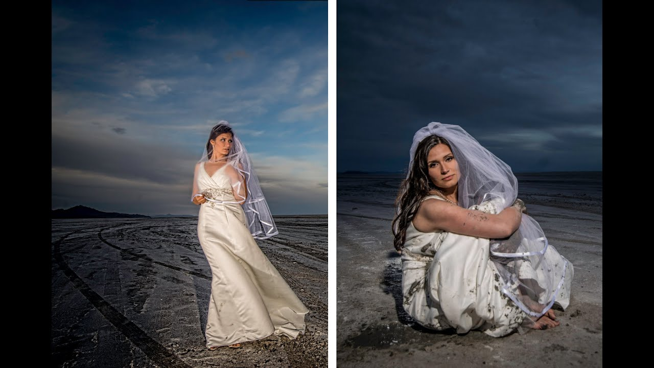 How To Trash The Dress Shoot Bridal Portraits At The Bonneville Salt Flats With Jason Lanier