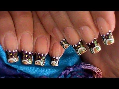 Funky Circles Dots Nail Art Design Tutorial Youtube