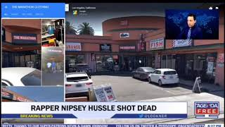 Nipsey Hussle Dead Shot 6x At His Store Los Angeles