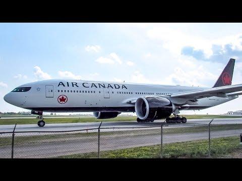Air Canada Boeing 777-200LR (B77L) departing Ottawa (YOW/ CYOW)