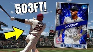 DIAMOND GLEYBER TORRES DEBUT! 503FT MOONSHOT! MLB THE SHOW 18 DIAMOND DYNASTY