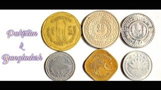 Coin collection | Bangladesh & Pakistan | 6 Coins ( Taka & poisha ) from 1967