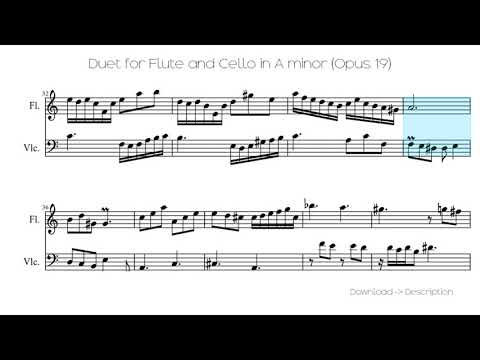 Duet For Flute And Cello In A Minor (Opus 19)
