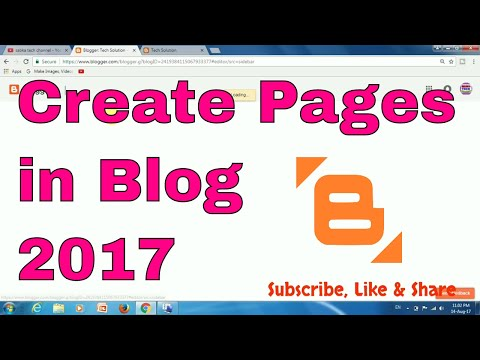 How to Create pages in Blog 2017