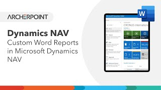 Dynamics NAV: Create Reports with Word