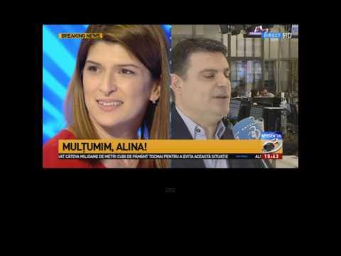 STIRIPESURSE.RO Alina Petrescu în lacrimi la despartirea de Antena 3