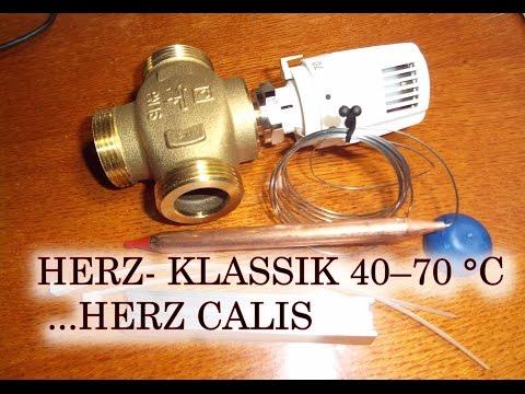 Обвязка пиролизного котла.Термостатическая головка HERZ- KLASSIK с трехходовым клапаном HERZ CALIS