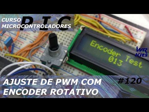 AJUSTE DE PWM COM ENCODER | Curso de PIC #120
