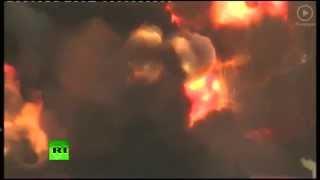 Крушение ракеты-носителя «Протон-М» (ВИДЕО)
