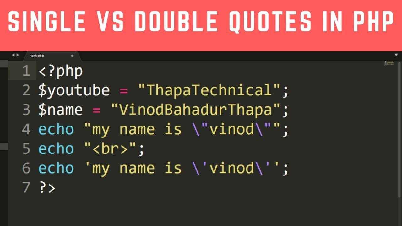 Difference Between Single Quotes Vs Double Quotes In Php In Hindi