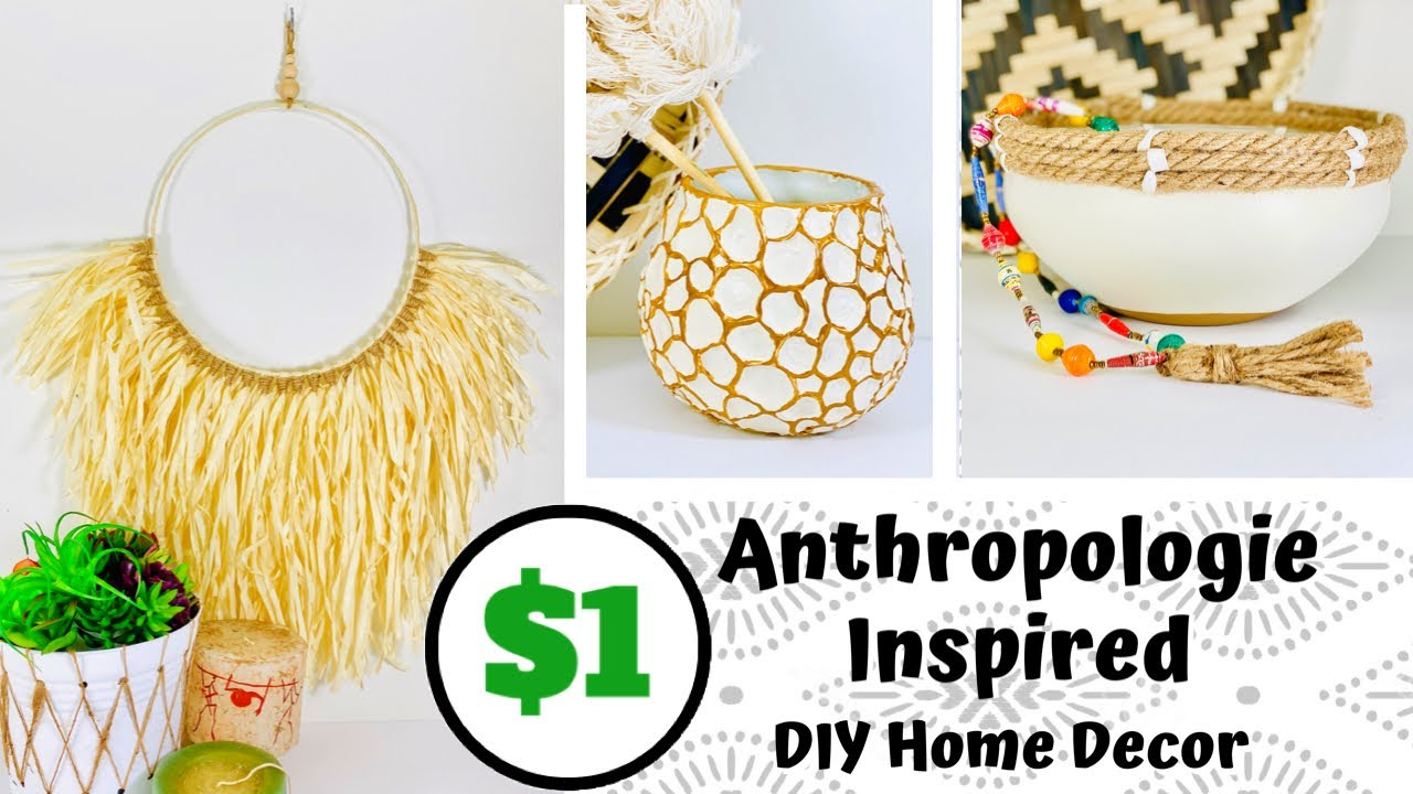 Anthropologie Inspired Dollar Tree DIY | 3 New DIY Boho Decor Ideas 2020