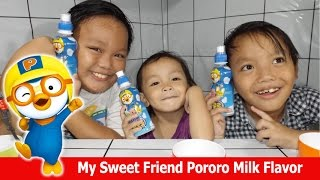 My Sweet Friend Pororo Milk Flavor | Pororo 음료수 Drink