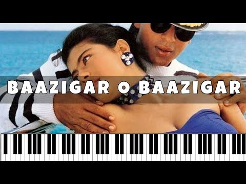 Baazigar O Baazigar (Baazigar) ♫   Hindi Song Notes   Piano 4 U ♫ Cover