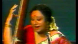 Parveen Sultana sings a Thumree in rag Hemant