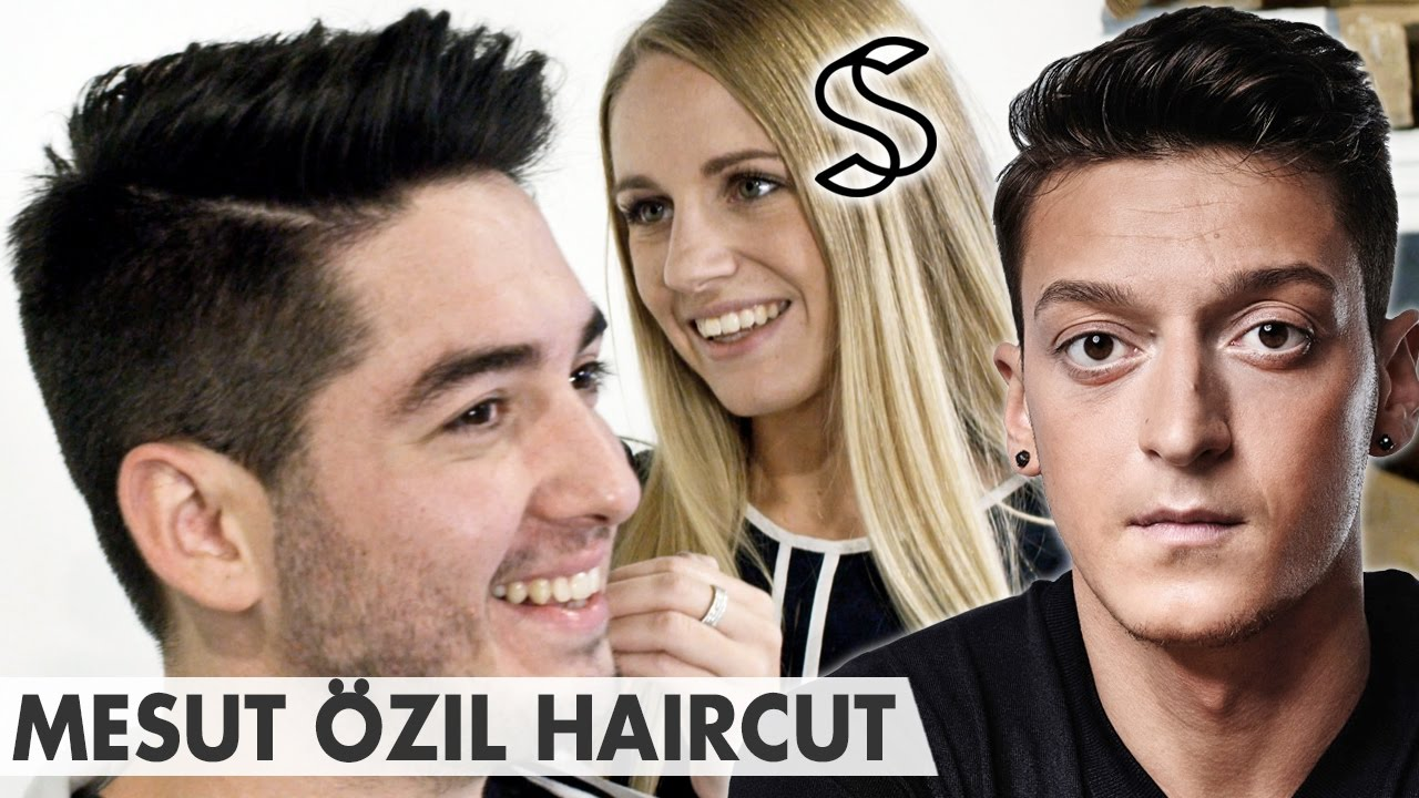 Mesut Ozil Hairstyle 2016 Crew Cut Side Parting Arsenal Mens Hair