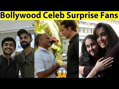 10 Famous Indian/Bollywood Celebrities Who Surprised Their Fans in Public in Hindi (Msb Facts)