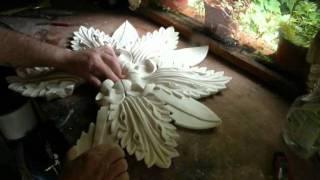 DESIGNING, MOULDING & MAKING A DECORATIVE PLASTER CENTRE PIECE - filmsculpt.com ©