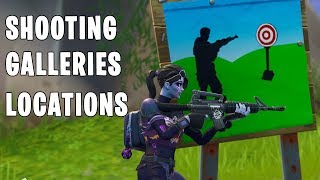 "Fortnite ""Get a Score of 3 or more at different Shooting Galleries"" ALL LOCATIONS - Week 4 Challenge"