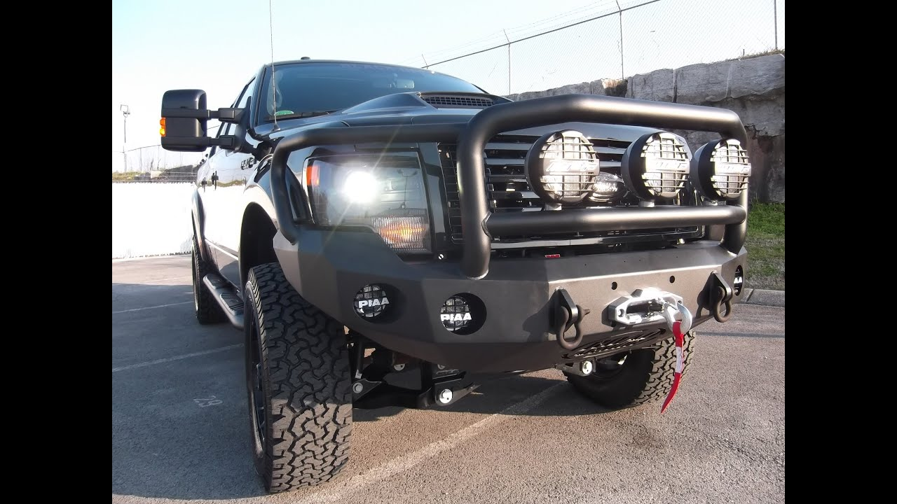2013 ford f150 62l 6u0026quot pro comp lifted road armor bumper tuscany black ops 8884391265