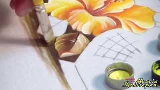 Pintando Hibisco Passo a Passo
