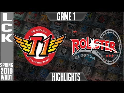 SKT vs KT Highlights Game 1 | LCK Spring 2019 Week 8 Day 1 | SKT Telecom T1 vs KT Rolster G1