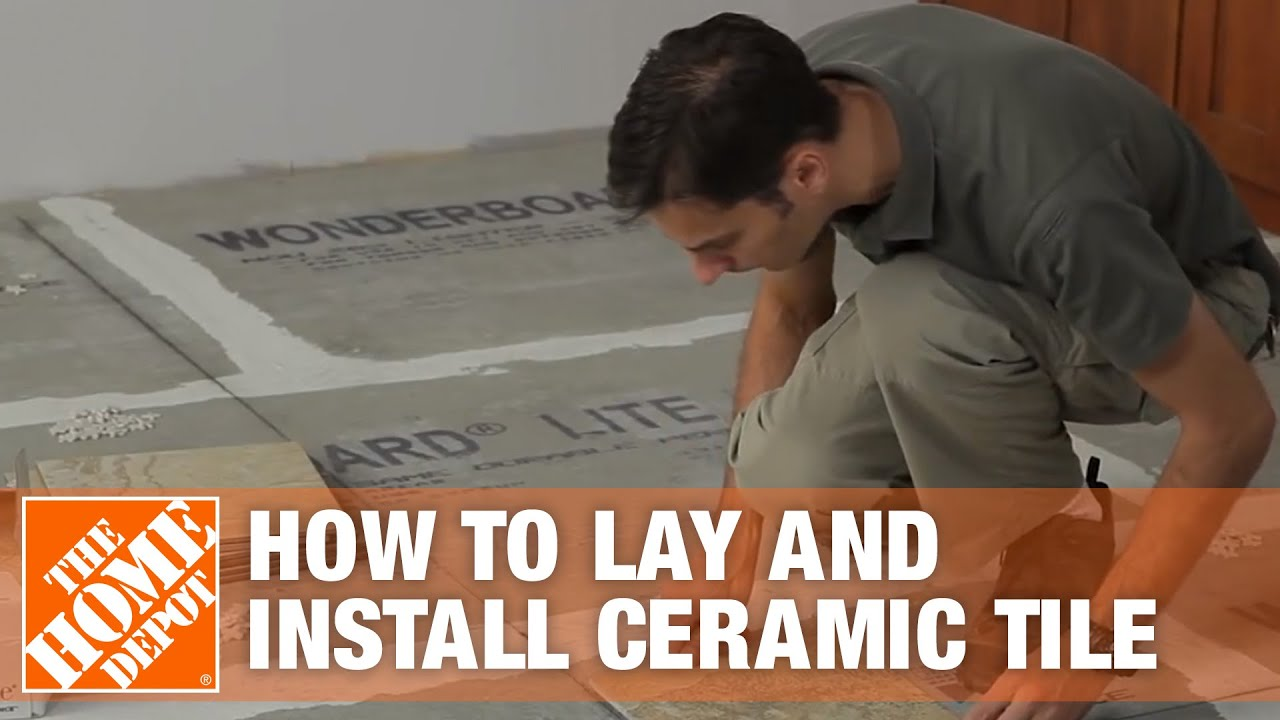 how to lay and install ceramic tile the home depot