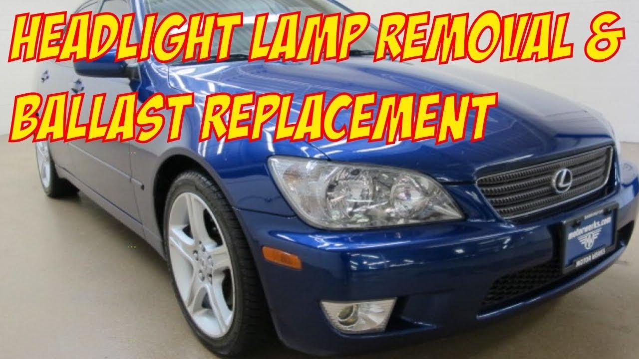lexus is300 hid xenon d2r headlight low beam bulb ballast replacement [ 1280 x 720 Pixel ]