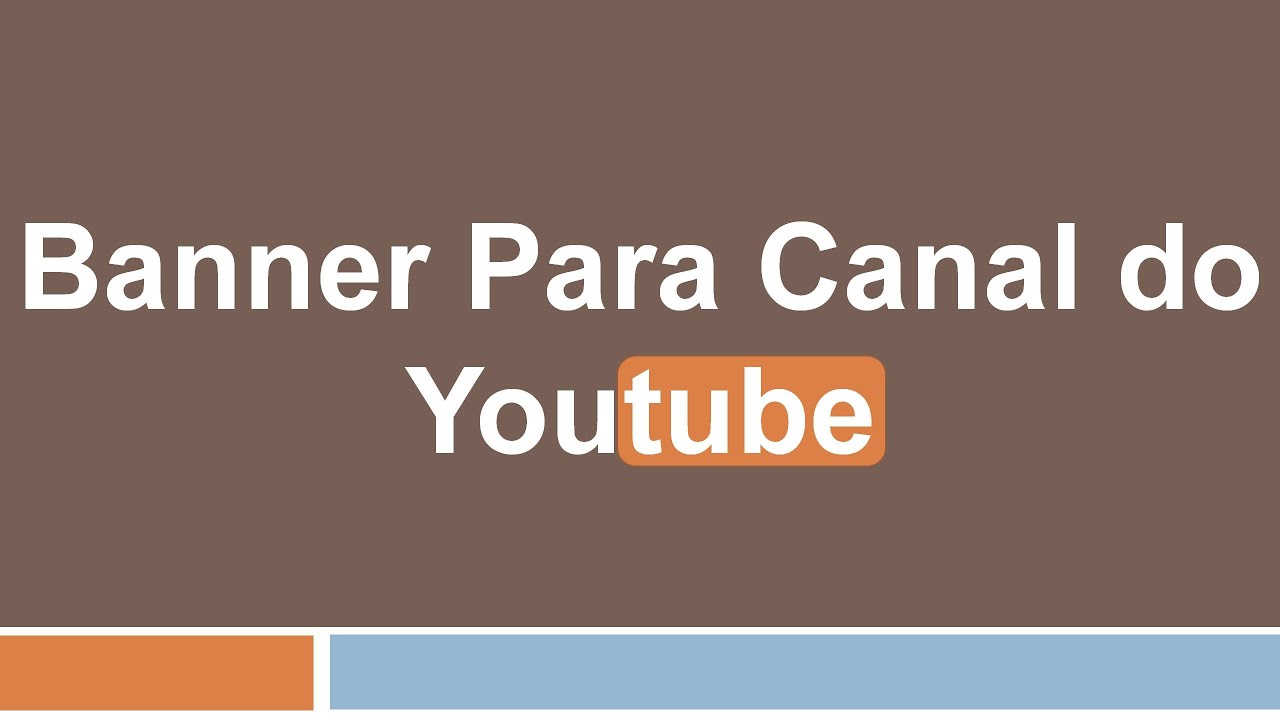 Capa Para O Canal Do Youtube(Power