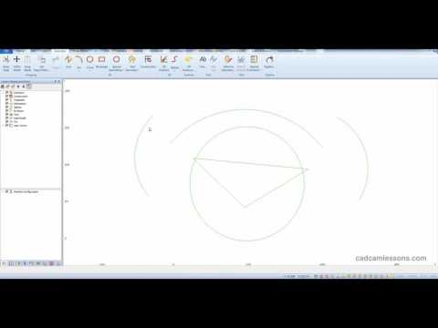 Alphacam Basics - Snaps - Arc Center Of