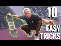 10 EASY FLAT GROUND SKATEBOARD TRICKS!